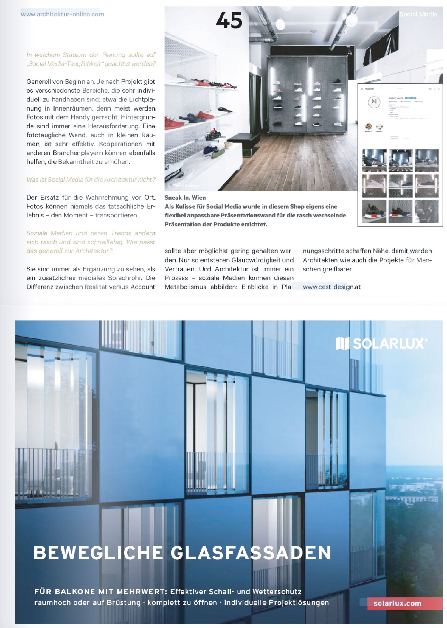 Social Media Architektur - www.cest-design.at